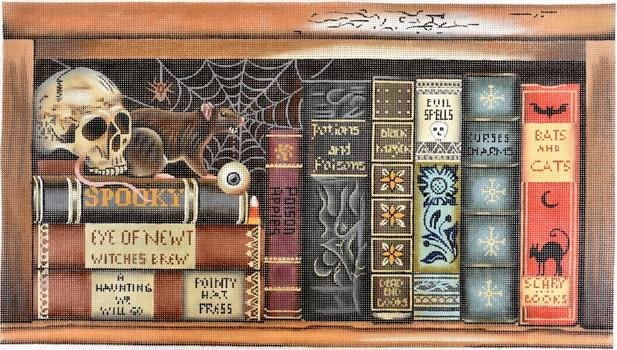 HALLOWEEN SCARY BOOKS by Melissa Shirley MS2057 Stitch Guide