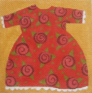 RED BABY DRESS by Melissa Shirley Designs Stitch Guide MS796bsg