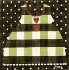 MS797U BLACK PLAID LARGE BABY DRESS by Melissa Shirley Designs