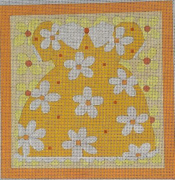 MS797C LARGE YELLOW DAISY DRESS WITH BORDER by Melissa Shirley Designs