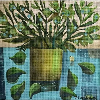 MSEML132 GOLD POT and FIGS by Melissa Shirley Designs