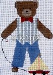 NM316-BOY BEAR WITH SAILBOAT BY NM ARTS