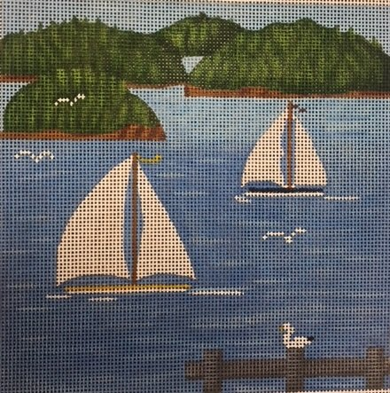 NM915 SAILBOATS SCENE by NM Arts
