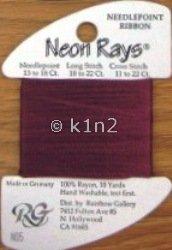 N05 Dark Mauve Neon Rays by Rainbow Gallery-NR005