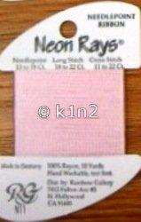 N11 Pale Pink Neon Rays by Rainbow Gallery-NR011