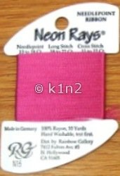 N15 Rose Pink Neon Rays by Rainbow Gallery-NR015