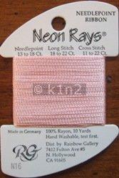 N16 Pale Peach Neon Rays by Rainbow Gallery-NR016