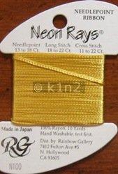 N100 Brassy Gold Neon Rays by Rainbow Gallery-NR100