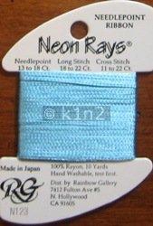 N123 Baby Blue Neon Rays by Rainbow Gallery-NR123
