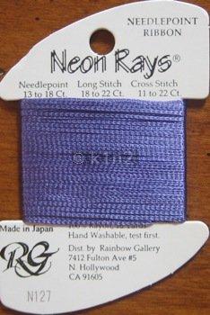N127 Violet Neon Rays by Rainbow Gallery-NR127