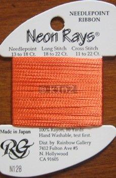 N128 Orange Neon Rays by Rainbow Gallery-NR128