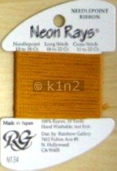 N134 Old Gold Neon Rays by Rainbow Gallery-NR134
