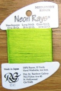 N141 Lime Sherbet Neon Rays by Rainbow Gallery-NR141