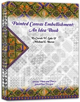 PAINTED CANVAS EMBELLISHMENTS-AN IDEA BOOK-PCEmb