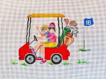 PM11207 Golf Cart Girls by Patti Mann