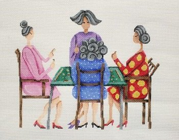 MAH JONGG LADIES by Patti Mann STITCH GUIDE PM11245sg