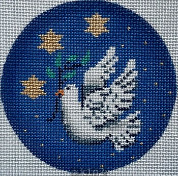 PM11487 Dove Star Ornament by Patti Mann