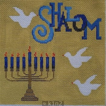 PM11489 SHALOM MENORAH DOVE PICTURE by Patti Mann