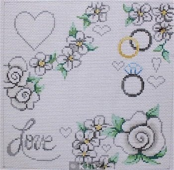 PM11855 WHITE FLORAL LOVE by Patti Mann