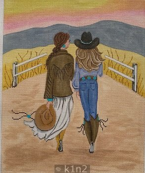 PM20058 COWGIRLS ON THE RANCH by Patti Mann