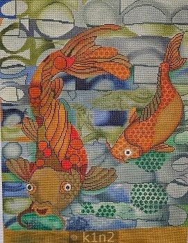 PM50010 KOI FISH by Patti Mann
