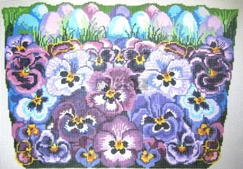 POIAF079-LARGE PANSY BASKET by Point of It All