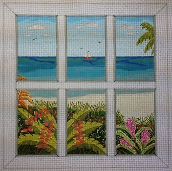 BEACH WINDOW by Purple Palm Designs STITCH GUIDE ONLY PPD1101sg