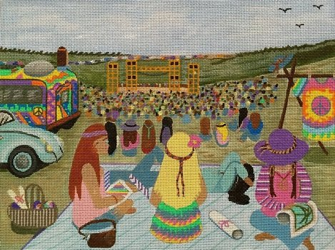 WOODSTOCK MUSIC FESTIVAL by Purple Palm Designs PPD1969sg Stitch Guide