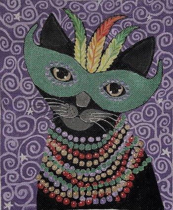 PPD Ryan8504 MARDI GRAS CAT by Purple Palm Designs