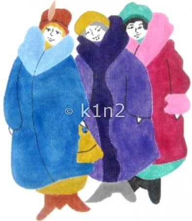 RA409-LADIES WITH FUR COATS by Rachel