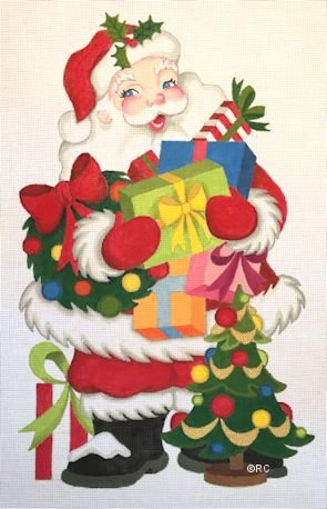 STANDING SANTA with PACKAGES by Raymond Crawford Designs STITCH GUIDE  RCHO1192sg