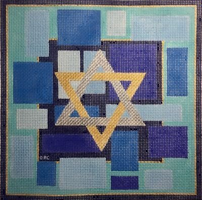 BLUE TEFILLIN BAG #1 by Raymond Crawford STITCH GUIDE RCHO1639sg