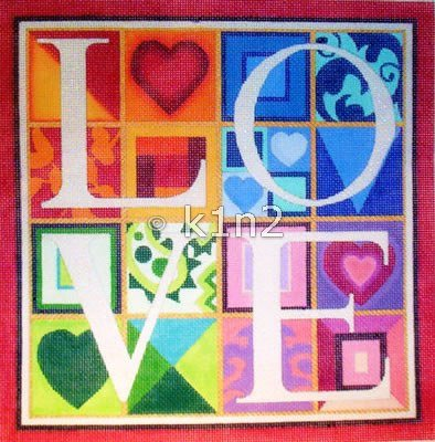 LARGE LOVE by Raymond Crawford STITCH GUIDE RCHO207sg