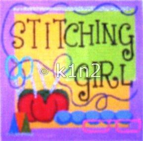 RCQT113-STITCHING GIRL by Ray Crawford