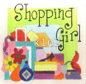 RCQT67-Shopping Girl by Ray Crawford