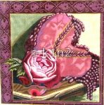 Heart with Rose by Diane Dirks RDD111