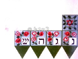 Pomegranate Dreidel Picture Judaica by Rishfeld-RISHP156
