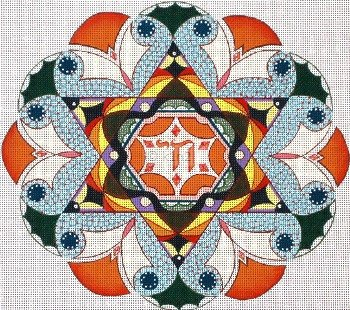 Chai Star Tallis or Picture Judaica by Rishfeld-RISHAR111