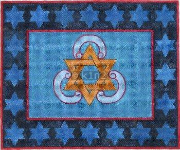 Blue w Star Tallit Bag Judaica by Rishfeld-RISHP110