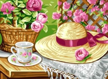 RP131166-TEA IN THE GARDEN by Royal Paris