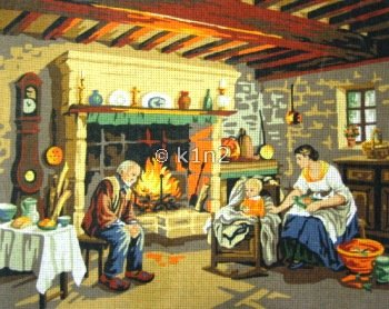RP132037-Family in Cottage by Royal Paris