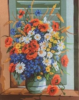 RP142177-Vase with Daisies and Tulips by Royal Paris