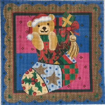 BEAR MINI SOCK WITH BORDER by S&S S2211