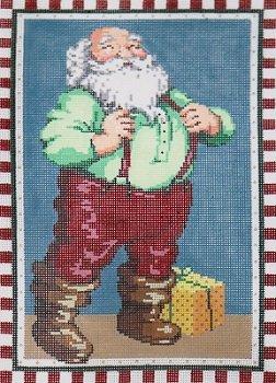SG181175 Checked Santa by Sandra Gilmore