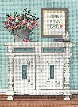LOVE LIVES HERE by Sandra Gilmore STITCH GUIDE SG181219sg