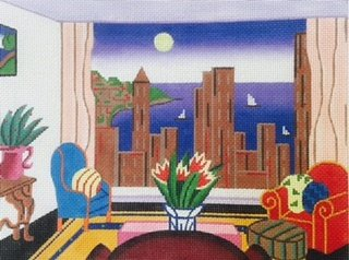 SH1664-CITY and HARBOR from LIVING ROOM by Shelbi