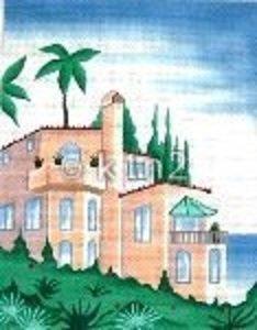 SH1719-PEACH STUCCO HOUSE by Shelbi