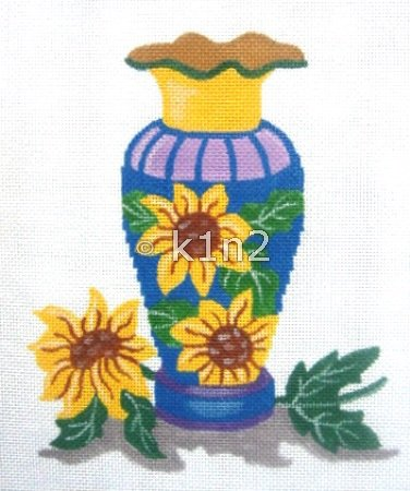 SH1720-Vase with Sunflower by Shelbi