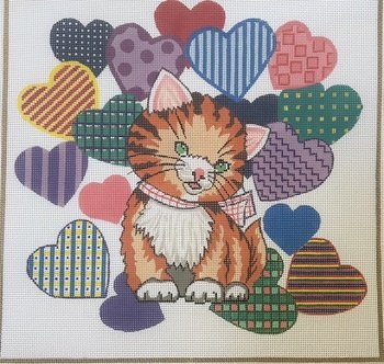 SH1732-KITTEN WITH HEARTS BY SHELBI