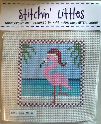 SL16 FLAMINGO FUN STITCHIN' LITTLES KIT  by Purple Palm Designs